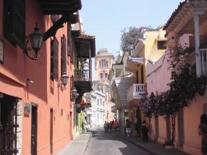 Die huebsche Altstadt von Cartagena