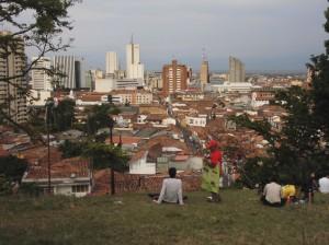Blick auf die Stadt vom Parque del Acueducto