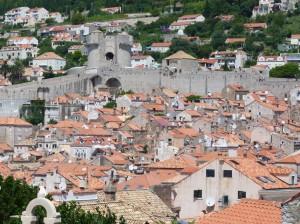 Kroatien - Dubrovnik - Befestigungsanlage als Schutzmauer um die Altstadt