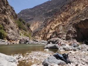 Canyon de Colca flussbett