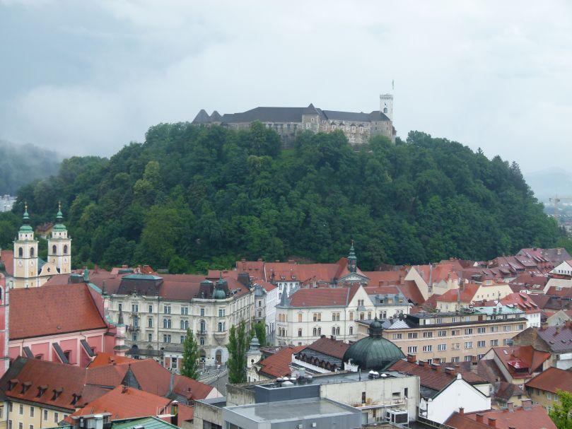 Ljubljana Burghügel Altstadt