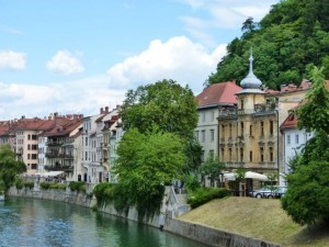 Slowenien-Ljubljana Fluss Ljubljanica