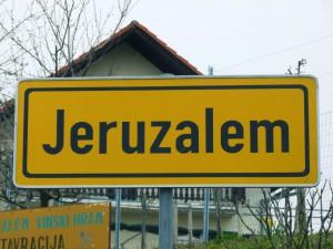Ortsschild - Jeruzalem