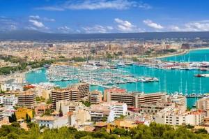 dem Strandabschnitt bei Palma de Mallorca