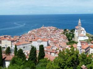 Blick auf die Altstadt von Piran