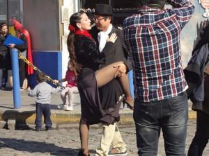 Tanzenden Paar ist in La Boca - Buenos Aires