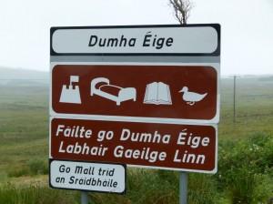 Connemara-Gälisches Schild