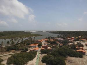 Blick auf den Fluss Preguicas