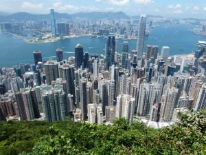 Blick auf HK Island Hong kong