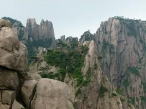 zerklueftete Felsen huang shan