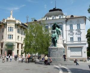 Slowenien Ljubljana Prešeren Platz